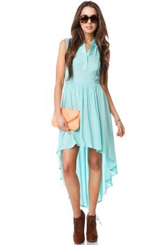 Cross The Back Dress in Mint