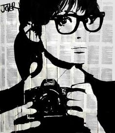 "Saatchi Art Artist Loui Jover; Drawing, ""selfie (SOLD)"" #art"