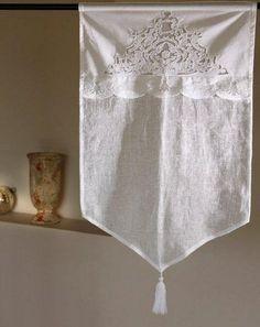 Brise bise SORMIOU 45x70 cm, Brise-bises et Rideaux en prêt à poser , rideaux, rideau, brodés, voilages, voilage, brodé, brise bise, pointe,...