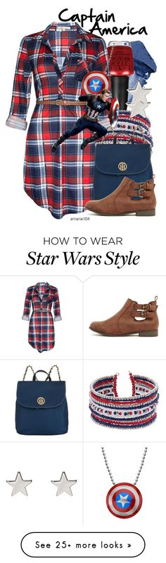 """""""Captain America"""" by amarie104 on Polyvore featuring Urban Decay, OPI, Tommy Hilfiger, Jennifer Meyer Jewelry and country"""