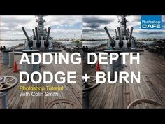 How to dodge and burn in photoshop, free tutorial, to add depth and dimension - YouTube
