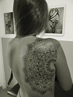 Mandala back, tatto artist Mauricio Araya, Mar del Plata, Argentina  https://www.facebook.com/tattooyaerografia.mauricio