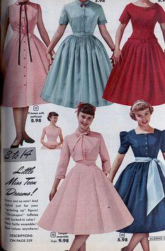 Women Fashion New Fashion 1950s Fashion Dresses, Vintage Fashion 1950s, Vintage 1950s Dresses, Vintage Mode, 1960s Fashion, Look Fashion, Fashion Outfits, Club Fashion, Modern 50s Fashion