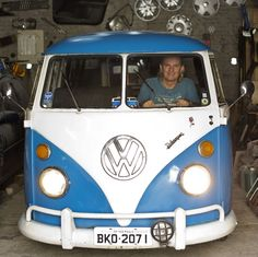 NOOOOOO! (Enio Guarnieri of Sao Paulo, Brazil, in his 1972 Volkswagen. Soon, the last of the vans will be made in a nearby factory.)