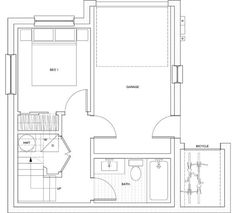 1000 images about room conversions on pinterest garage for 1000 sq ft garage plans