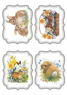 card, pergamano and tables - Geburtstag Easter Art, Easter Crafts, Easter Eggs, Lapin Art, Easter Bunny Pictures, Alfabeto Animal, Diy Ostern, Bunny Art, Easter Printables