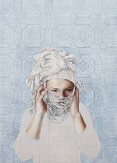 """Saatchi Art Artist Pippa Young; Painting, """"The half truth (SOLD)"""" #art"""