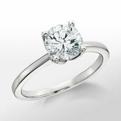 Monique Lhuillier Solitaire Engagement Ring (with a princess cut center stone)