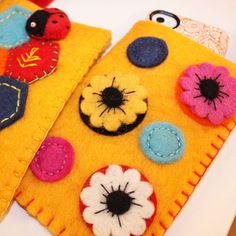 I LOVE LOVE LOVE felt applique. And it's almost impossible to find phone cases (that are cute) for droid phones. Now I can make one!