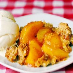 Peach Crumble - Rock Recipes -The Best Food & Photos from my St. John's, Newfoundland Kitchen.