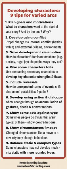 Character development: 9 tips for convincing arcsYou can find Character development and more on our website.Character development: 9 tips for convincing arcs Creative Writing Prompts, Book Writing Tips, Writing Words, Fiction Writing, Writing Quotes, Writing Resources, Writing Help, Writing Skills, Writer Tips