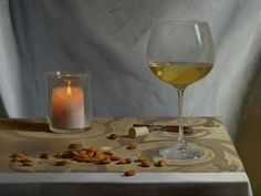 Almonds and Chardonnay by Danny Grant at Quent Cordair Fine Art - The Finest in…
