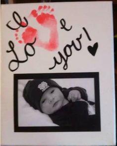 Valentines footprint picture