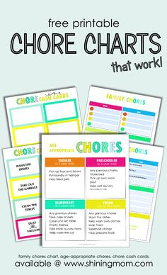 FREE Printable Chore Charts that Work!