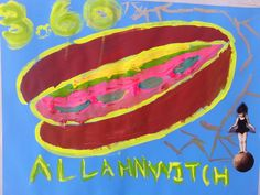 """greatest Of All Sandwiches, Acrylic Paint, Paper Clipings, 2017"" ... I Don't Always Make Sandwiches, But When I Do..."