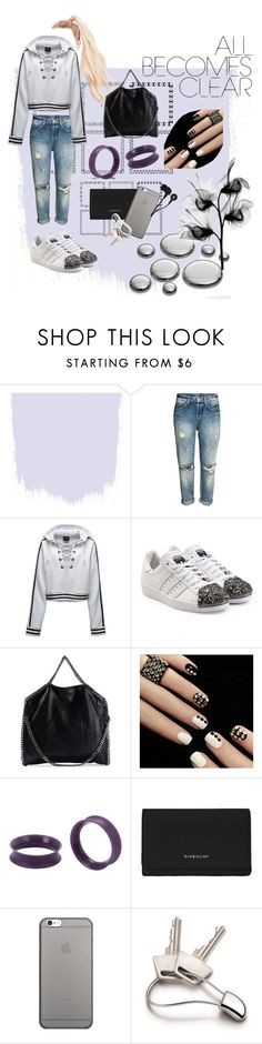 """""""rain drops"""" by lo-rin ❤ liked on Polyvore featuring Puma, adidas Originals, STELLA McCARTNEY, Givenchy, Native Union, Georg Jensen and Skullcandy"""