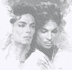 Michael Jackson & Prince typography portraits