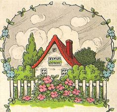 art deco cottage  - ideas for planning a miniature cottage garden.