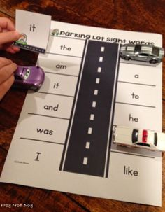 Parking Lot Sight Word Game $