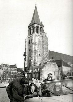 Place Saint-Germain-des-Prés, Paris circa 1950 (Patrice Molinard)