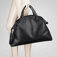 Bottega Veneta Nero Intrecciato Nappa Convertible Bag