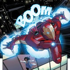Flying High in Invincible Iron Man (2015-) #3 - David Marquez
