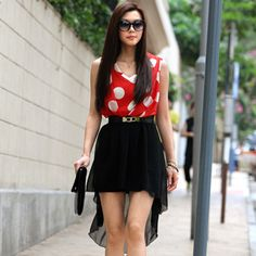 I'm on a roll now! Lala-love This red polka dot dress! Must have!