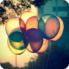 dark balloons