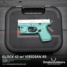 """Omaha Outdoors on Instagram: """"Glock 42 Tiffany Blue Pistol with Viridian Reactor 5 Red Laser Follow @omahaoutdoors if you haven't done so already. Ready to ship to your FFL."""