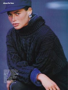 'Dress For Less' from………….Vogue UK 1990 feat Carre Otis