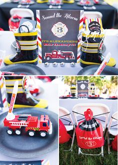 {Adorable!} Sound the Alarm Firehouse Birthday Party Alexander's 3rd Birthday ThePearEvents.com