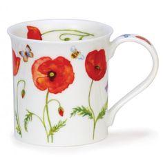 Dunoon Mugs - Bute Shape - Beau Jardin: Poppies