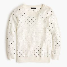 Polka-dot Tippi sweater with shoulder buttons : sweaters | J.Crew