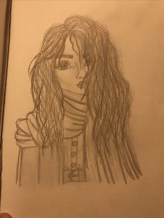 Girl sketch, messy hair