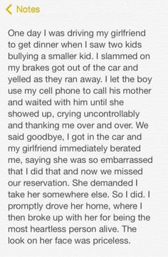 This man deserves an award... And that girl deserves a slap in the face.