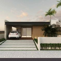 Projeto de casa térrea linda Bungalow, Facade Architecture, Villa, Modern House Design, Beautiful Homes, Building, Outdoor Decor, Pictures, Designs