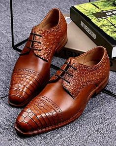 Mens handmade crocodile and cowhide shoes for sale Made-to-order Women's Shoes, Hot Shoes, Shoe Boots, Shoes Style, Shoes Men, Mens Fashion Shoes, Fashion Boots, Fashion Hair, Leather Dress Shoes