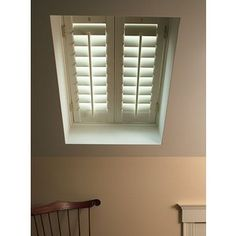 Even Skylights can be covered with Plantation Shutters