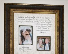 Wedding Day Thank You Gift for Grandparents Nana Papa Grandma Grandpa Thank You Gift For Parents, Wedding Gifts For Parents, Wedding Thank You Gifts, Bride Gifts, Mother Of The Groom Gifts, Father Of The Bride, Gifts For Father, Gifts For Mom, Anniversary Party Decorations