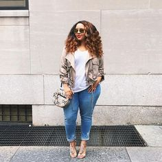 Pin for Later: 42 Easy Outfit Ideas Using a White Tee Under a Cropped Jacket With Fringe Heels