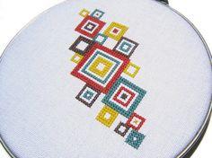 Mod squares modern cross stitch by wallwork on Etsy, $50.00