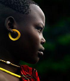 Africa   Bodi girl. Omo Valley, Ethiopia   ©Eric Lafforgue