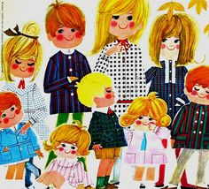 Nylfrance Jeunesse children's fashion illustration, 1963