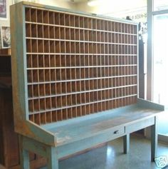 >> Previous postal sorter---can be GREAT in a house workplace/artwork room!!!...