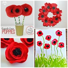 Beautiful Red Poppy Crafts for Kids to Make - Crafty Morning - - Here are some gorgeous poppy crafts for kids to make for remembrance or veterans day! Memorial Day Activities, Remembrance Day Activities, Remembrance Day Poppy, Poppy Craft For Kids, Crafts For Kids To Make, Art For Kids, 4 Kids, Children, Wreath Crafts