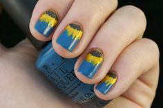 Sunflower nails :)