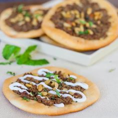 Turkish Meat Pies with Arabic spice mix, mint and pine nuts. Amazing flavors and so delicious. Plus a bonus recipe for the Arabic spice mix.
