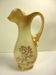 "HAND CRAFTED POTTERY STONEWARE PITCHER SIGNED JERRY 9-21-81 10""TALL"