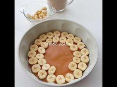 Tarif Defterine Ekle Üyelik Gerekli03 yumurta 1su bardağı şeker 1 su bardağı sıvı yağ 2su bardağı un 1 vanilya 1 kabartma tozu 1 su bardağı süt 4 orta boy muz 1 çay bardağı çekilmiş ceviz Karamel Sos İçin; 1su bardağı toz şeker 2 yemek kaşığı tereyağı 5 yemek kaşığı su Birkaç damla limon suyu Krema …