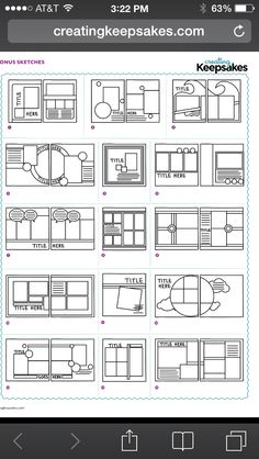 Sketches are the perfect way to start a layout! scrapbook layout Layout Sketches Love the sketch Ideas Scrapbook, Scrapbook Layout Sketches, Scrapbook Templates, Scrapbook Designs, Card Sketches, Scrapbook Paper Crafts, Scrapbooking Layouts, Scrapbook Cards, Picture Scrapbook